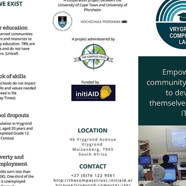 Vrygrond Computer Lab brochure