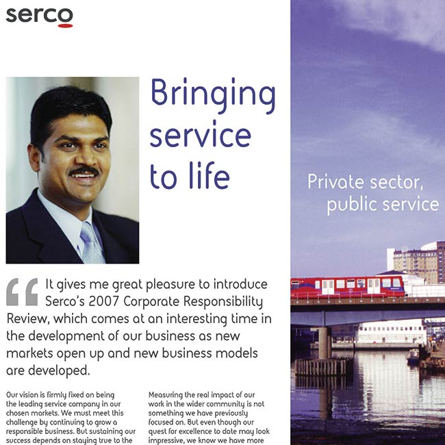SERCO social responsibility review
