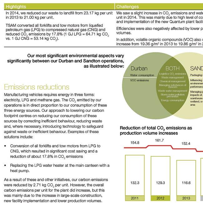 Toyota sustainability report